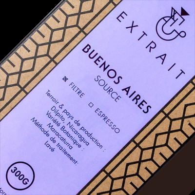 Paquet café en grains 300g BUENOS AIRES EXTRAIT