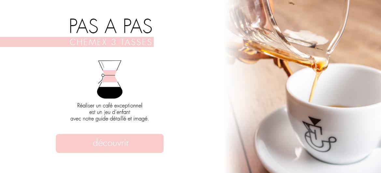 PAS A PAS CHEMEX 3 TASSES