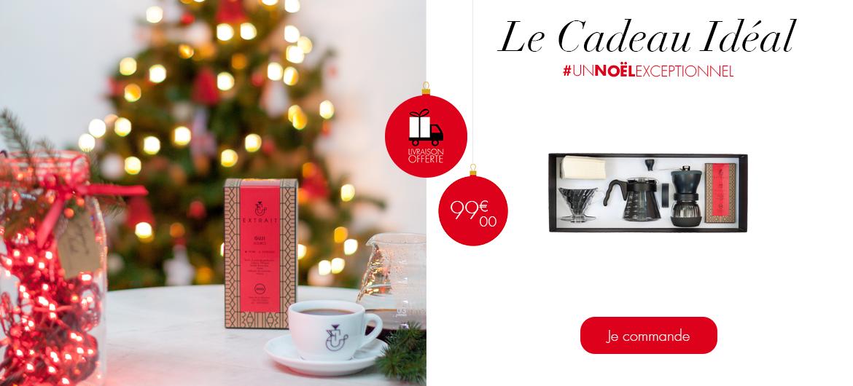 #UnNoëlExceptionnel - Coffret Initiatique Filtre 99€ comprend 1 carafe, 1 porte-filtre, 1 moulin manuel Hario Skerton, 100 filtres et 1 paquet de café en grains 300G GUJI.