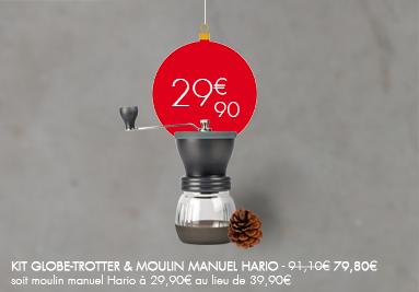 Kit Globe-Trotter (Aeropress et FLORES 300G) & Moulin Manuel Hario Skerton 79,80€ au lieu de 91,10€